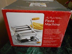 my perfect kitchen pasta machine stainless steel spaghetti noodle rh ebay co uk