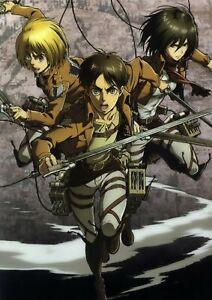 Anime Poster 12x18 Attack On Titan 650990 Eren Mikasa Armin Jeager Arlet Ackerma Ebay