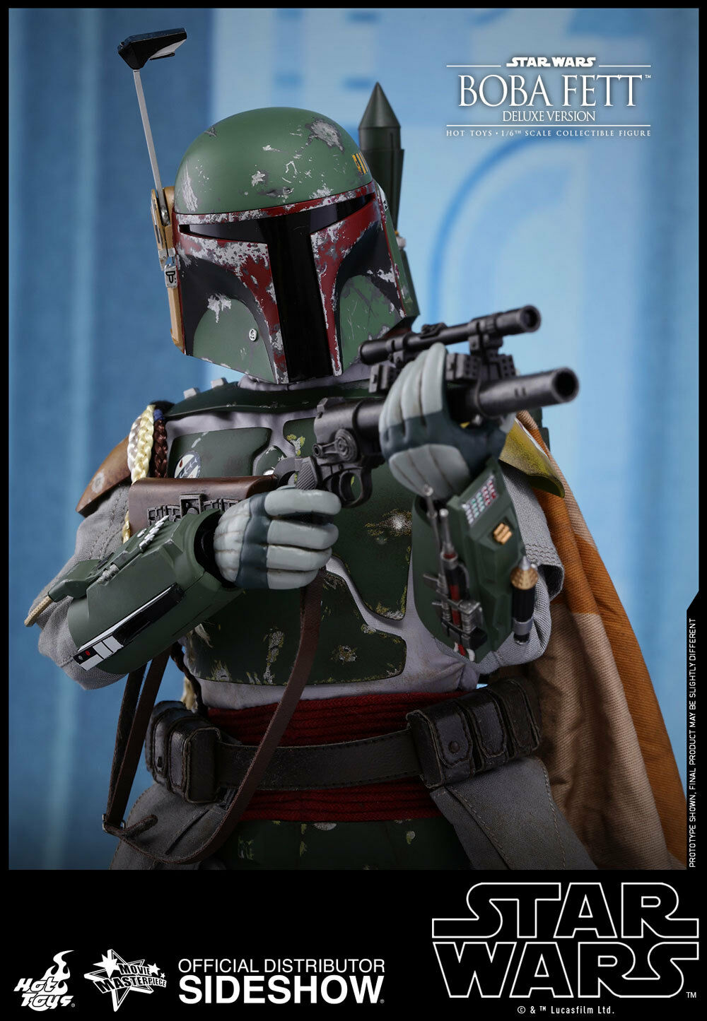 STAR WARS  EPISODE V  Boba Fett  Deluxe Version  Sixth Scale Figure  Hot Toys  Comme neuf IN BOX