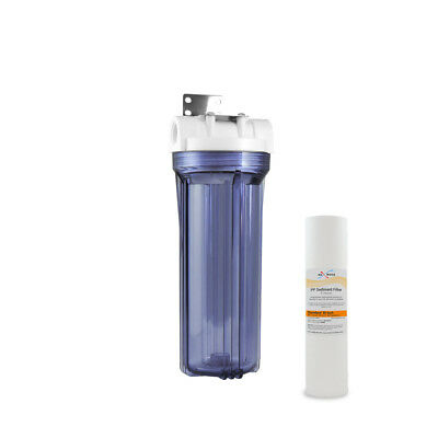 """Pre Aquarium Boiler RO odor-reducer 10/"""" Whole House Water Clear Filter Housing"""