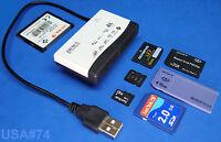 Usa Seller. Usb Memory Card Reader M2 Cf Xd Mmc Ms Sdhc Sd Micro Mini External