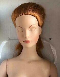 Tonner-16-034-Tyler-Shauna-Doll-Nude-for-OOAK-Unpainted-Eyes-Red-Hair-Read