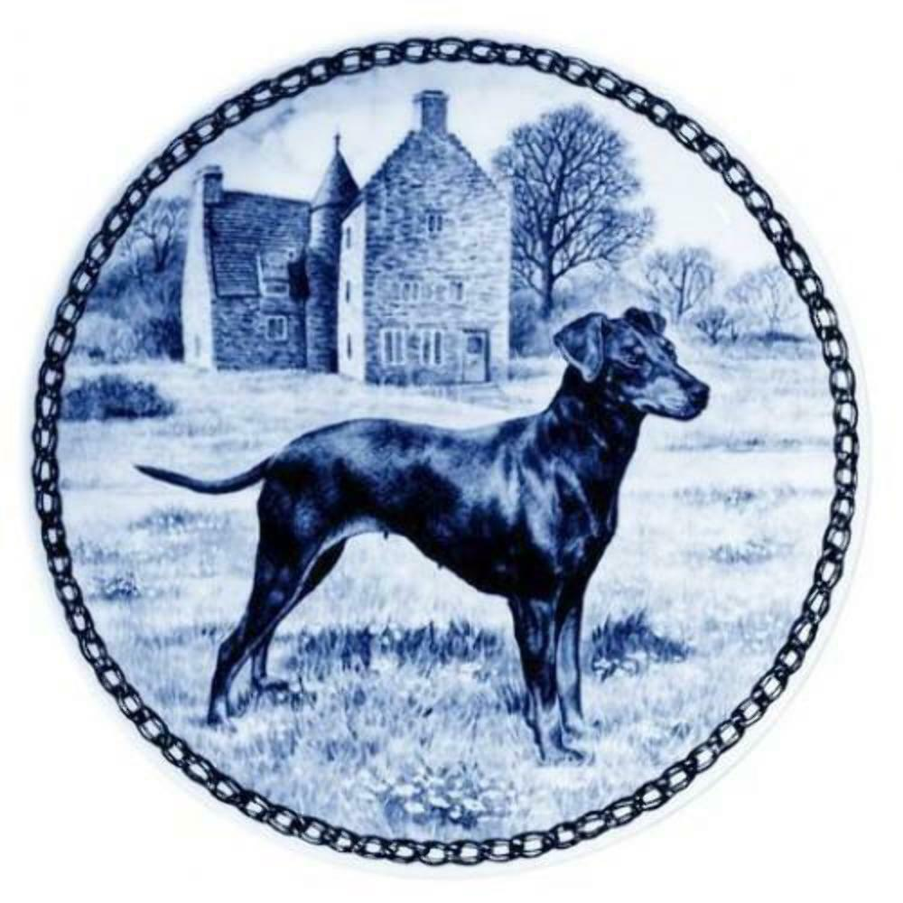 Manchester Terrier - Dog Plate made in Denmark from the finest European Porcelai