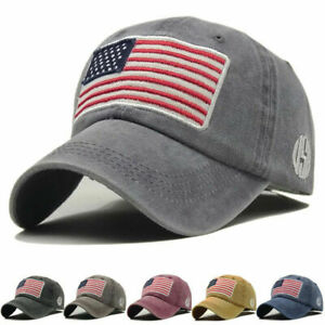 Baseball-Cap-Mens-Tactical-Army-Cotton-Military-Dad-Hat-USA-American-Flag-US-AN