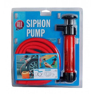 Pompa a Sifone Aspira Liquidi Con 4 Tubi Flessibili Travaso Benzina All Ride