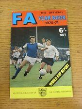 Federazione Calcistica 1970/1971: ANNUARIO UFFICIALE, tra cui Coppa del Mondo, un report
