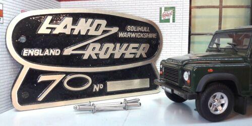 Land Rover Defender 90 110 70th Ltd Edition Cast Brass  Grill OEM Tub Badge