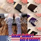 US NEW Women Leg Warmers Socks Lace Crochet Knit Boot Socks Toppers Cuffs