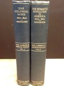Main-Currents-in-American-Thought-vols-1-amp-2-Parrington-1st-Ed-1927-HC