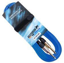 KEEPDRUM GC-004 BL Blau 6m Instrumentenkabel Klinke 6,3mm +Kabelbinder