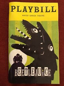 Beetlejuice the Musical Playbill Broadway Alex Brightman