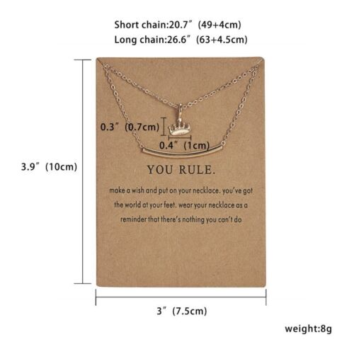 Fashion Simple Gold Heart Crown Animal Pendant Necklace For Women Jewelry Gifts