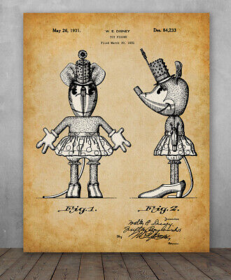 MICKEY MOUSE /& MINNIE MOUSE Print 23x35 Inch Poster Art One Images DISNEY 1988
