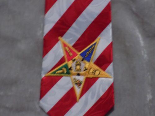 Patriotic Order of Eastern Star Necktie Stars Stripes Masonic Organization NEW!