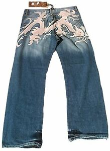 Geile-RUSTY-NEAL-TRIBEL-Stonewash-Patch-JEANS-g-33-32