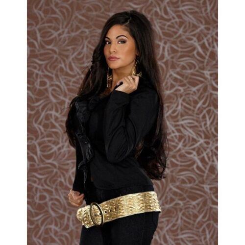veste noire 821 longues 36 Tag Uk ajustée à et Superbe élégante volants manches 8 à S Eu xUt1Tt