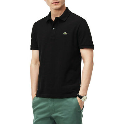 NEW Lacoste Basic Slim Fit Polo Black