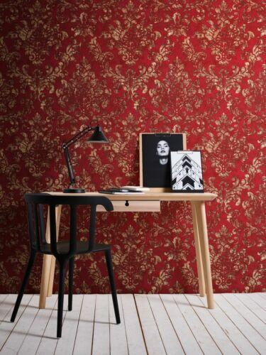 Papier peint non-tissé 37413-1 Baroque-Design Red Brown Gold 2,65 €//1qm