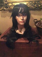 Synthetic Lady Long Layer Full Head Wigs Cosplay Party Daily Fancy Dress Black