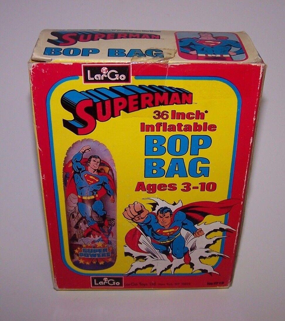 Superman 36 Inch Inflatable Bop Bag No.1719 Heavy Duty Vinyl NIB LarGo Toys 1970