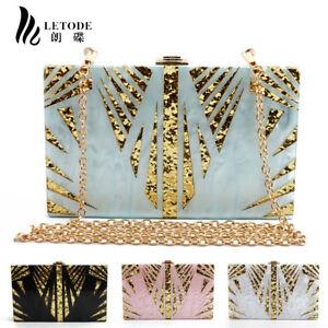 Shiny-Acrylic-Handbag-Womens-Purse-Shoulder-Crossbody-Evening-Bags-Clutch-Wallet