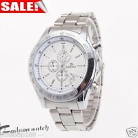 Luxury Stainless Steel Men's Military Army Sport Date Analog Quartz Wrist Watch