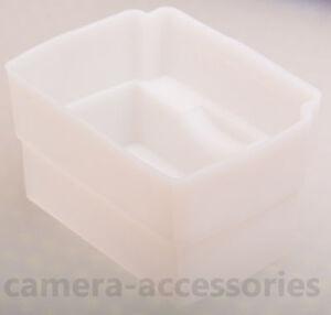White Flash Dome Diffuser for Yongnuo YN-560 YN-600EX Sony HVL-F58AM F60M F43M
