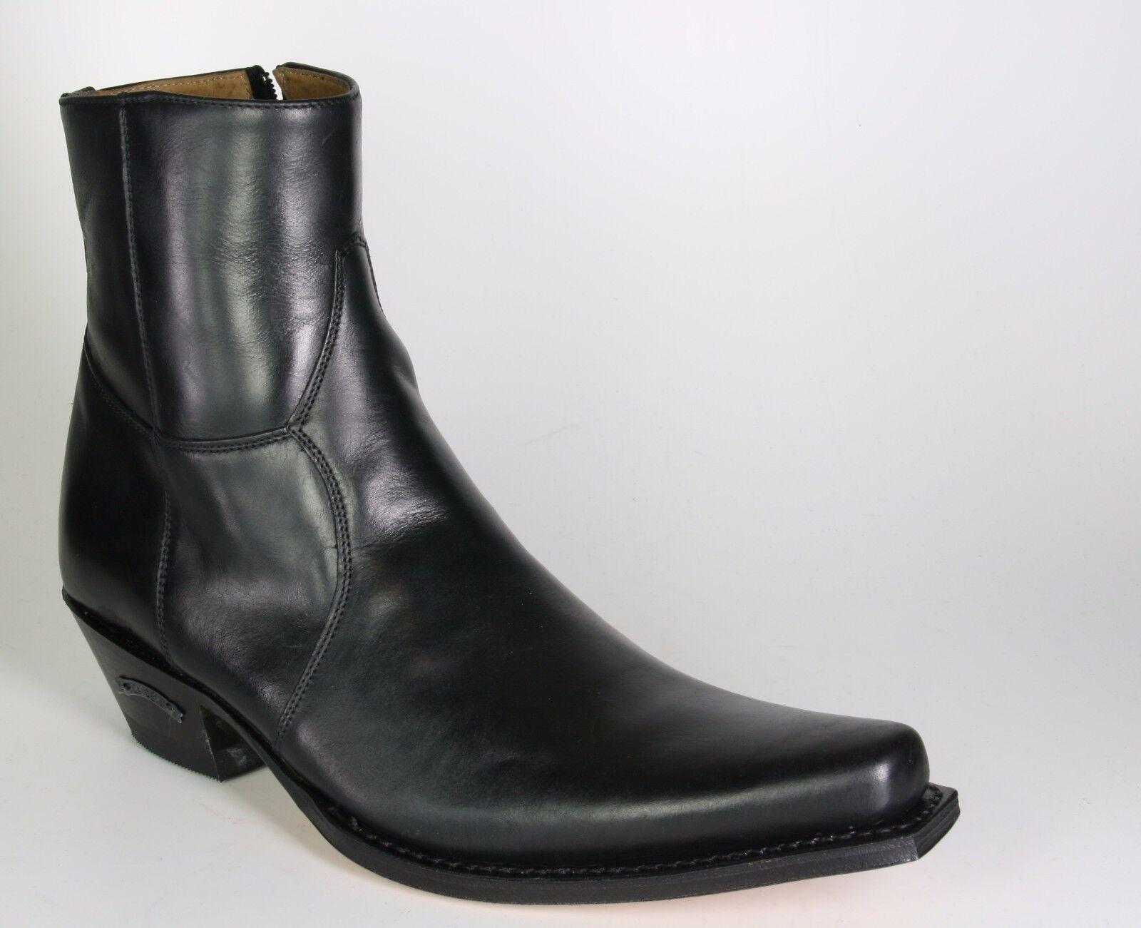 5200 Sendra Bottines Luca Monténégro Noir Cadre Cousue Chaussures