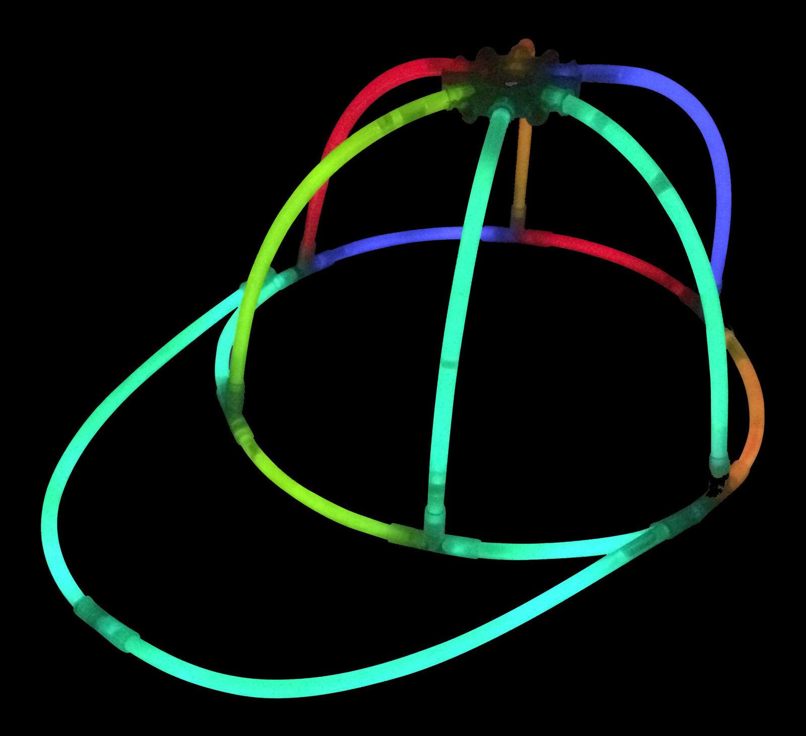 96x glow in the dark caps couleurs mélangées glow chapeaux pour les fêtes festivals glowtopia