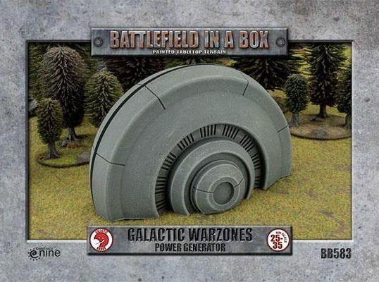 slåssfield in a låda Galactic Warzones Power Generator 28mm 35mm Swl Terrain