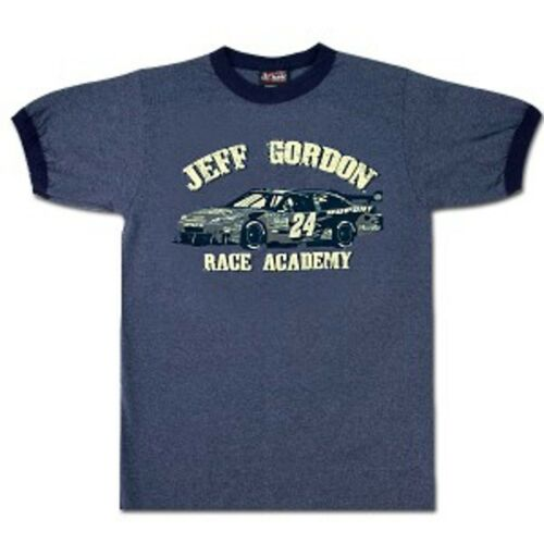 JEFF GORDON #24 RACE ACADEMY GREY T-SHIRT CHASE AUTHENTICS LARGE NEW W//TAGS