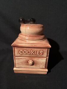 Vintage-McCoy-Cookie-Jar-Coffee-Grinder-1960-039-s-Collectible
