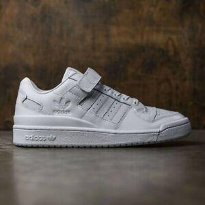 gusano Sequía Factura  Adidas Originals Mens Forum Lo Refined White Trainers Shoes BA7276 UK 9.5 |  eBay