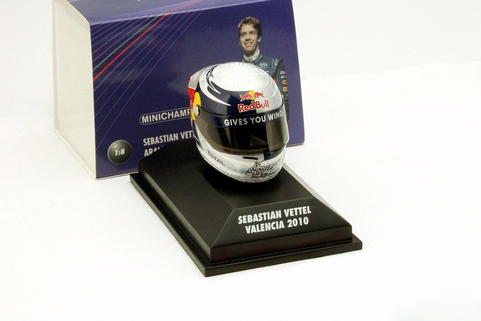 S.Vettel Red Bull GP Valencia Formula 1 World Champion 2010 Helmet 1 8