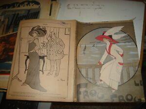 LE-FROU-FROU-rivista-umoristica-francese-del-23-8-1909-illustrata-e-bellissima