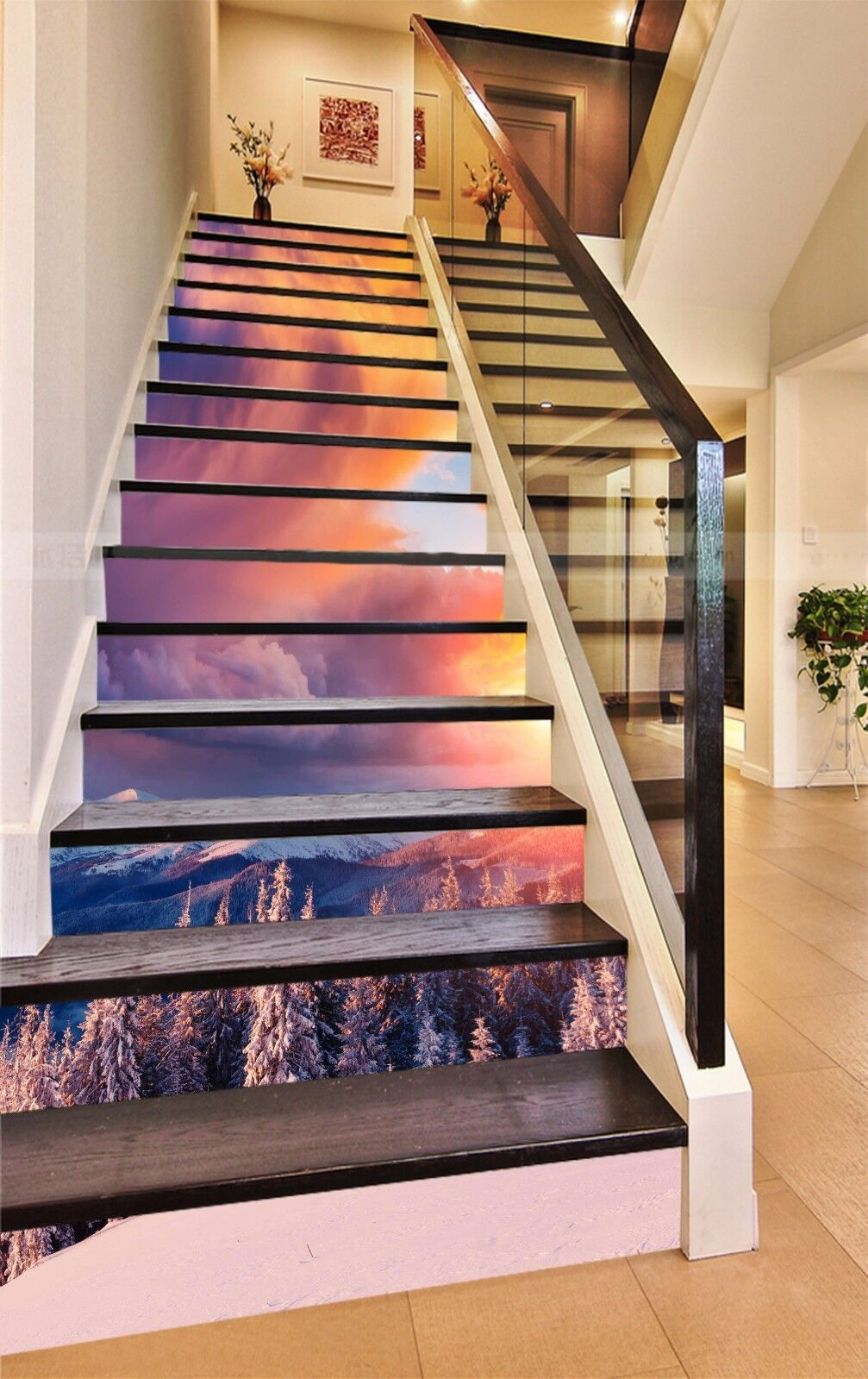 3d snow view 8424 risers decoration mural vinyl decal wallpaper au stair photo nvvcrc5797 decals stickers vinyl art