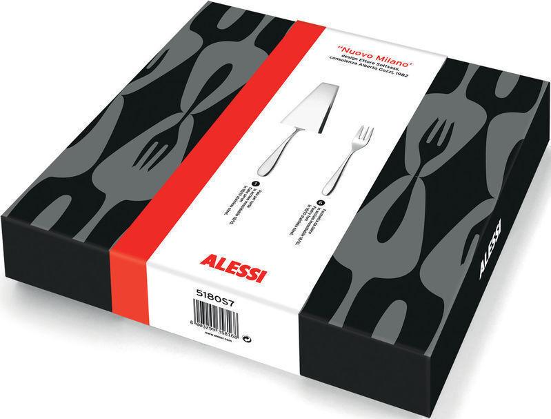Alessi-SG38S7 – mami set  6 pastry forks, et un gateau serveur