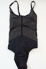 Nanette Lepore | Goddess One-Piece Swim Suit NL4BC10 in Black women's sz M $164