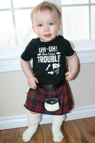 Scottish Baby Kilt Outfit 12-24 Month  Tartans  Plaids Kilt Sporran Shirt Socks
