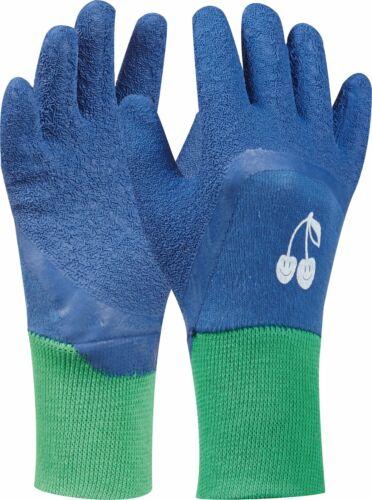 blau Gartenhandschuhe Baumwollhandschuh Tommi Kinderhandschuh Kirsche