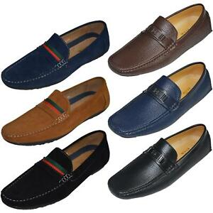 Mens-Suede-Loafers-Shoes-Moccasin-Slip-On-Casual-Boat-Driving-UK-Sizes-6-12