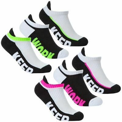 Gelernt Ladies Girls 3-6 Packs Socks Trainer Liners With Arch Support Cotton Rich Uk 4-7