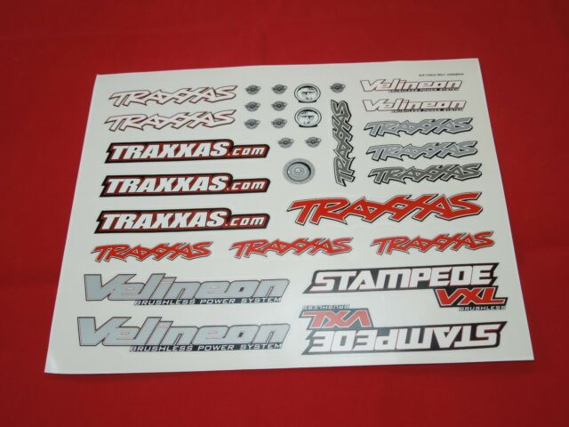 TRAXXAS STAMPEDE  VXL  DECAL SHEET 2WD  DECALS STICKERS 3607-3 brushless 2X4 NEW