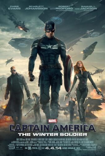 24x36 Johansson - Chris Evans Captain America The Winter Soldier Movie Poster