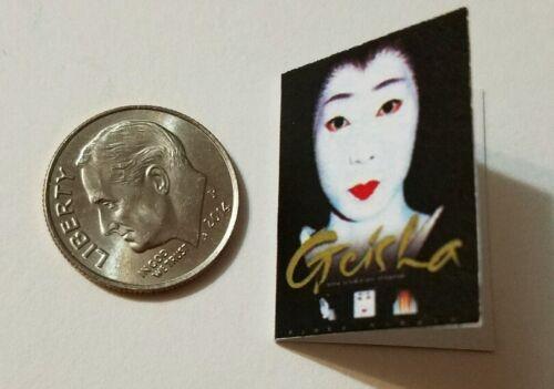 Miniature Dollhouse Book Barbie  Book 1//12 Scale Japanese Geisha Girl  Black