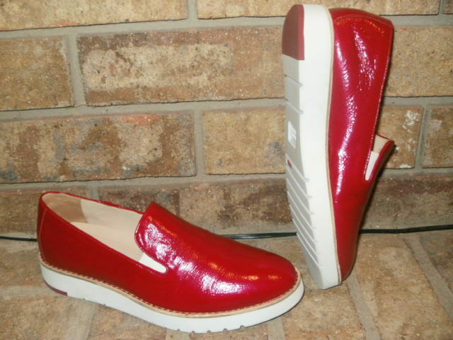 New Johnston Murphy Penelope Red Leather Loafer Womens 6.5 M  78m18306 MSRP  110