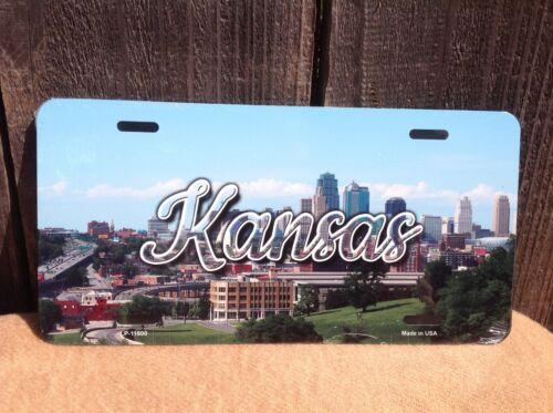Kansas Downtown City Scenic Skyline Novelty License Plate Bar Wall Decor