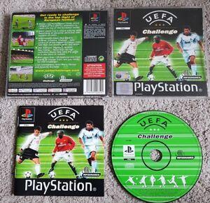 Seltene-UEFA-Challenge-ps1-Playstation-1-Komplett-mit-Anleitung-in-super-Zustand