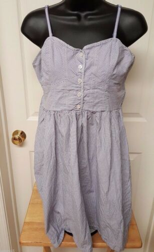 American Eagle Outfitters Womens Blue White Stripe