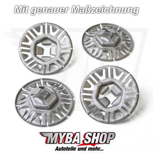 15x Metall Befestigung Clip Klemmscheibe für VW Audi Seat Skoda N90796502 #NEU#